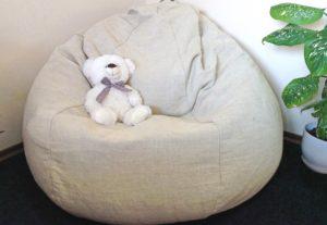 Кресло мешок из натуральной ткани
