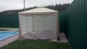 Крыша и стенки из москитной сетки для летней беседки - ткань Oxford PU