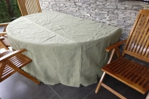 Чехол для стола из натурального брезента ПВ