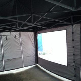 Стенка с прозрачным окном для большой палатки