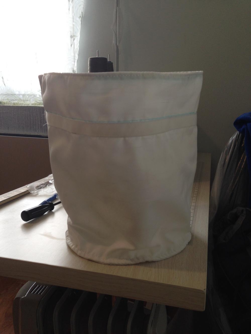 Рукав фильтровальный - ткань Лавсан молочный (несколько слоёв)