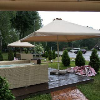 Тент для зонта на летнюю площадку