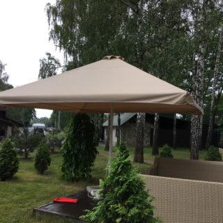 Тент зонта для летней площадки