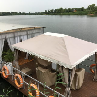 Тент крыша для беседки - 2 цвета - ткань Oxford