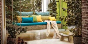 Уличные шторы и подушки